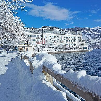 winter holiday in the mountains